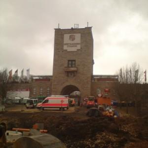 Baustelle Westsachsenstadion