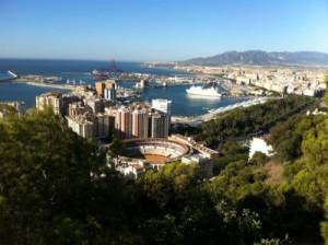 View over Malaga
