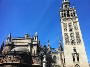 Teilansicht der Kathedrale von Sevilla
