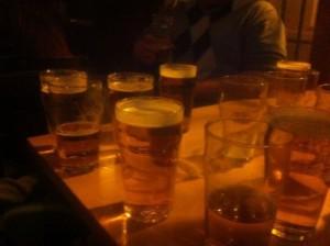 Einige wenige leichte Biere