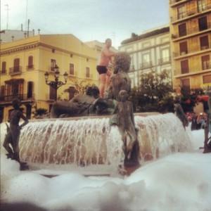 Pool-Party am Plaza de la Virgen