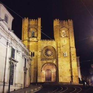 Kathedrale von Lissabon @night