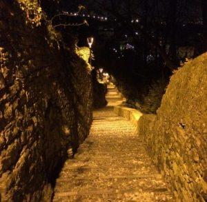 Empor zur Oberstadt Bergamos