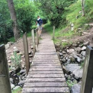 Wandern auf dem Taff Trail