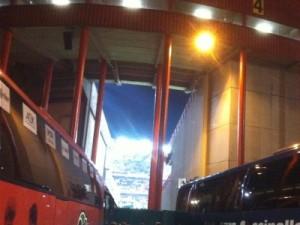 Ankunft am Stade Maurice Dufrasne