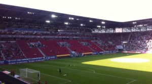 Augsburgs Arena von innen