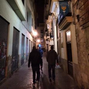 Unterwegs in den Gassen von Valencia