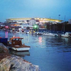 Blick auf das Sükrü Saracoglu Stadion