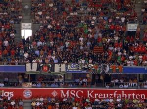 Gästeblock beim FCB