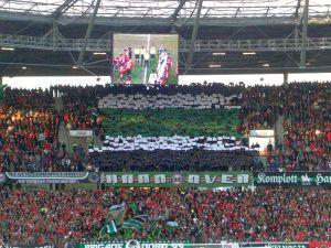 Kleine Fanaktion gegen die Bayern