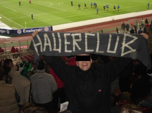 H.C.O.E. Away-Banner in Stuttgart
