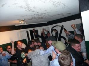 Party im Fanhaus