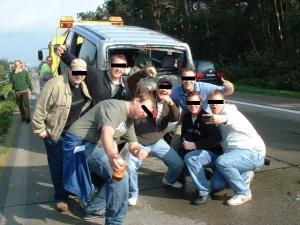 Unfallvergnügen auf der A7
