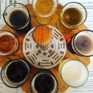 Jetzt gibt's hier 'ne Bierverkostung...