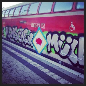 Trainwriting vorm Derby