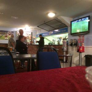 Pausentee im Clubhaus