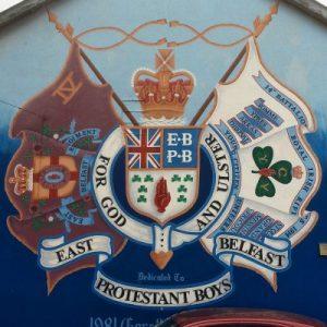 Loyalistisches Mural in East Belfast