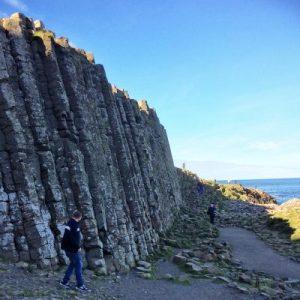 Die höchsten Säulen des Basaltdamms