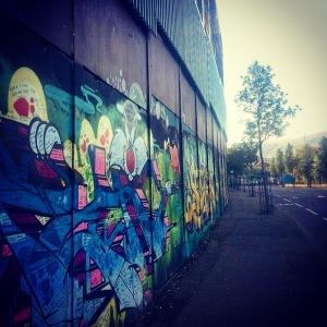 Peace Line in Belfast