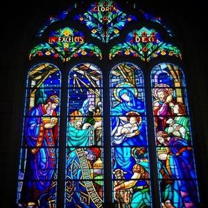 Eines der Fenster der Klosterkirche