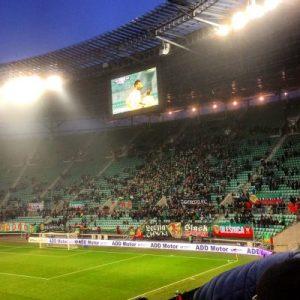 Heimkurve im Stadion Miejski