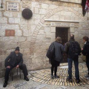 Hier soll Simon von Cyrene Jesus geholfen haben