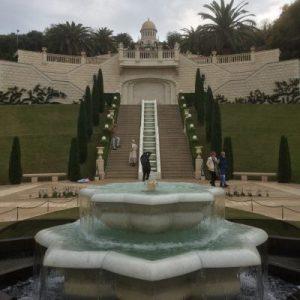 Unteres Ende der Bahai Gardens