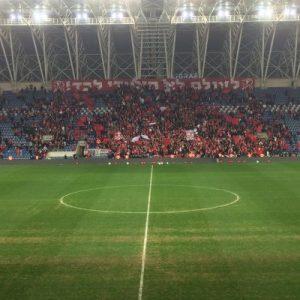 Auch Hapoels Fans blieben noch lange