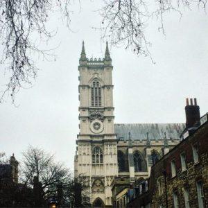 Westminster Cathedrals Westwerk von Süden